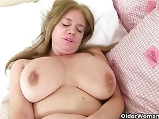British and busty milfs Lily and Amy need getting off