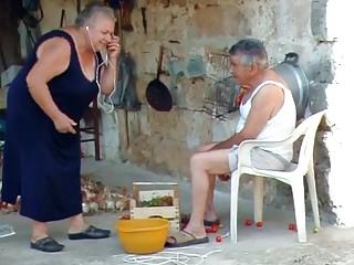 BBW italian Grandma Calls Grandpa close to thing embrace