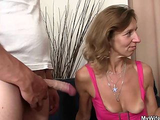 Granny fucks her daughter's hubby