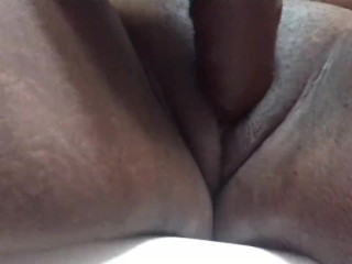Toying with my fucktoy , making my humungous cunny bust