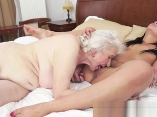 Bigtits grandmother orally ate by ultra-cute stunner