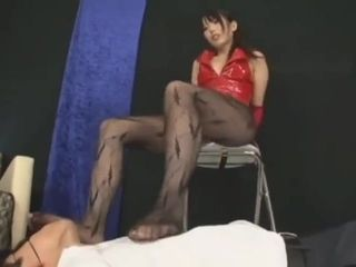 Chinese female dominance feet wank