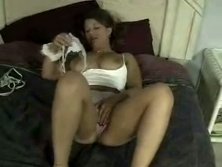 Gigantic boobed ardent divorcee wifey is blessed to pet her own meaty fuckbox