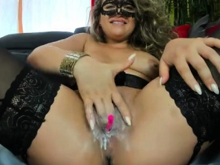 Super-cute senior cougar fucktoys Her honeypot In super hot pantyhose