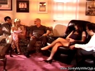 Multiracial big black cock Swinger soiree With cougar
