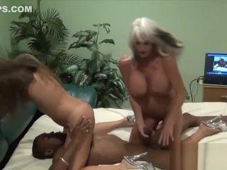 Web cam showcase joy with 2 mummies and a big black cock