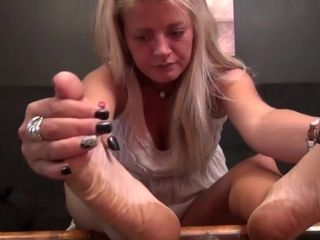 Scorching harsh Callused Mature feet