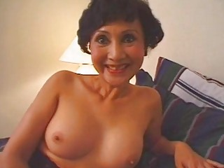 Horny granny gets fucked in a threesome
