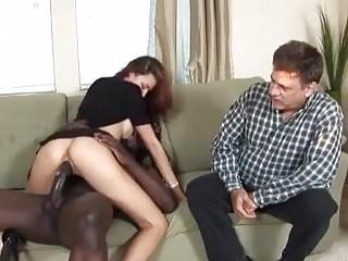 Nasty wife cuckols husband with bbc