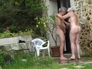 Hit the road drive off Homemade flick on every side Nudism, Grannies scenes