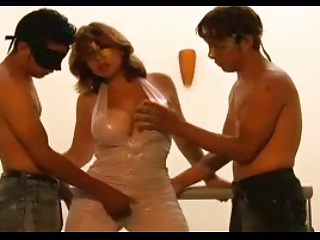 Blackmail his Friend's Hot Mom into having a Threesome