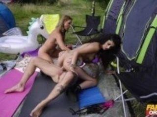 """Fake Festival Marina Maya and Victoria May in debut threesome"""