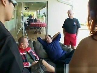 Husband observed wifey screwed by 2 rock hard boners