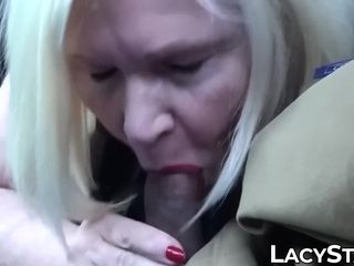 Plump mature stunner big black cock wedged and busted with jizz
