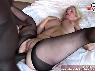 German mature mommy homemade ass-fuck internal ejaculation with bbc
