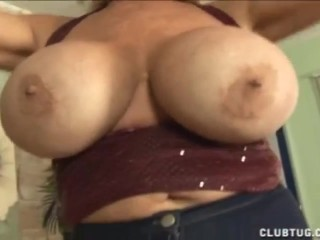 Huge-titted milf handjob