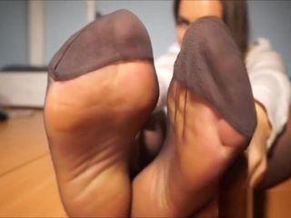 Office stockings sole Jerk Off Instructions Teae