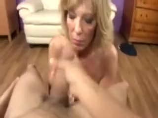 Naughty cougar honey Tugs And bj's hard-on For This successful man
