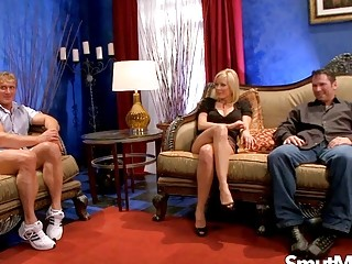 Holly Sampson lures 2 folks with Her ideal cougar titties