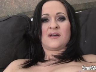 Immense bumpers cougar Diana Swiet strokes till a dark-hued hairy man Comes for Help