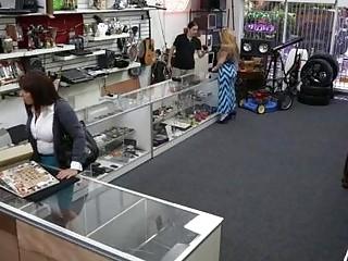 Wife sells husband stuff and fucked hard