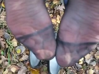 Cum on german milf nylon soles