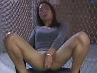 Japanese cougar tugging