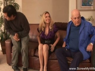 Big Tits Blonde Wife Turns Swinger For Arousement