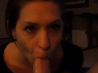 She sits in front of his chisel and bj's till jism in gullet