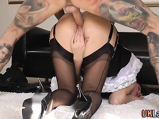Older british maid nailed