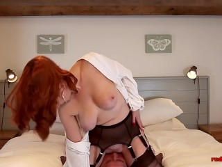 Mature brit ginger-haired bj joy time with her spouse