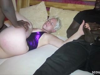 Cheating observe German wifey plow by big black cock and masturbate while observe