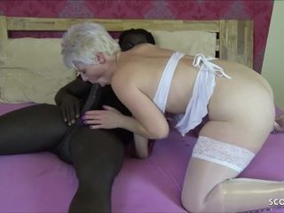 German mommy at multiracial Nurse Roleplay and spunk on gash