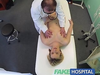FakeHospital Horny milf swallows a load of the good doctors cum after some furious fucking in the office