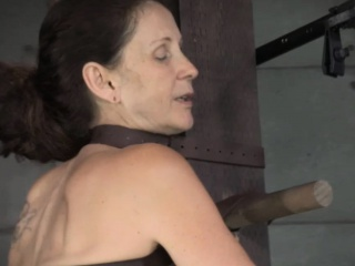 Tied up BDSM sub Emma Haize suffers