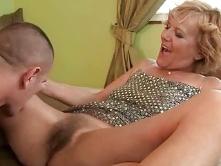 Young man fucking hot hairy granny hard