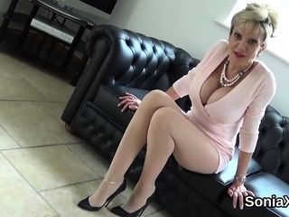 Unfaithful brit mature doll sonia demonstrates her good-sized 56Crb