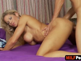 Calculating evil milf gets the hot load of cock that she craves