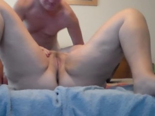 John is Eating on Jens Pussy on the Bed