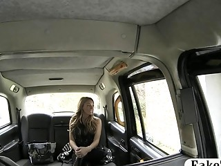 Sexy mature milf in lingerie twat rammed by fake driver