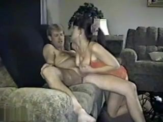 Elderly brown-haired stunner Getting nailed firm On The sofa