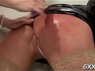 Mature girl-girl gets her attractive vag played with a yam-sized faux man-meat