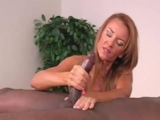 Hot redhead milf giving handjob to BBC with cumshot|1::Big Tits,20::MILF,24::Interracial,31::Redhead,46::Verified Amateurs