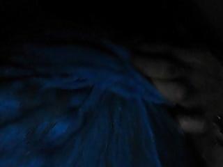 Cgirl plays with nipples in blue panties #3