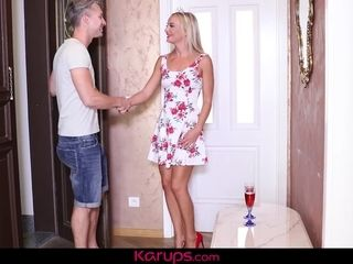 Karups - blondie cougar Victoria unspoiled Has b-day fuckfest