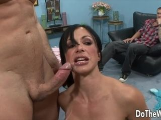 Do The Wife Housewives Taking Cumshots in Front of Cuckolds Compilation 1