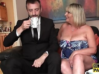 Big british bdsm broad squirts during fucking