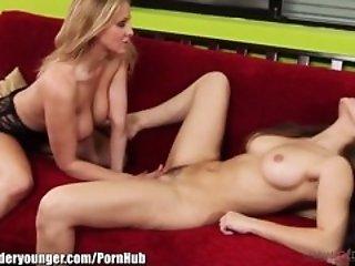 LesbianOlderYounger Dani Daniels and Julia Ann