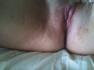 This indecent super-bitch likes finger-banging her labia and she doesn't mind if I witness