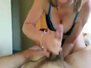 Hot British Girl Handjob and Swallow